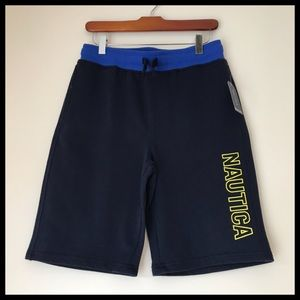 NWT Nautica Logo Knit Sport Shorts Size 14-16